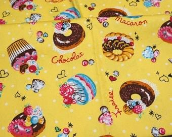 Sweets print japanese fabric Half Meter  (lb1B)