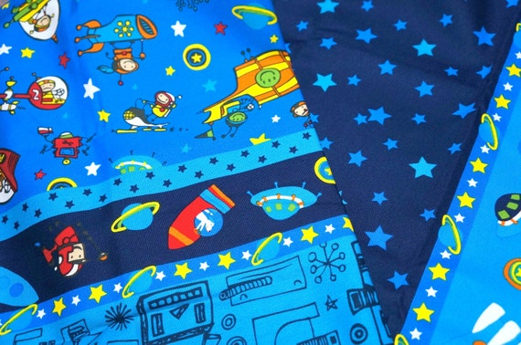 Japanese fabric outspace theme half meter nc34 nc22 for Space inspired fabric