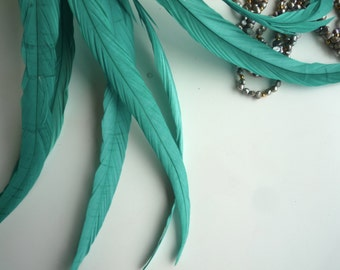 BELLISSIMA Tail Feathers  Loose /  Emerald Green / 170