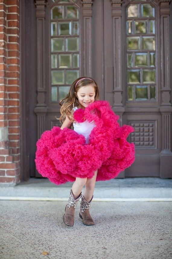 Dreamspun's Sweetheart Pettiskirt - Raspberry Pink or Fuchsia
