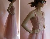 Grown Up Ballerina Vintage 1980s ZUM ZUM Pale Pink and Metallic Gold Princess Gown
