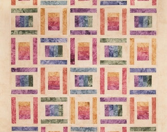 Starr Designs Hand Dyed Cotton Fabric Quilt Kit Throw Size Spoolin Around Quilting Sewing Crafting fabrics