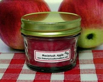 Macintosh Apple PURE SOY 4 oz. Mason Jar Candle
