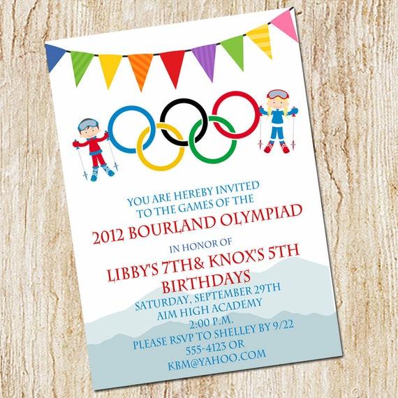 Bien-aimé carte invitation jeux olympiques 😛 CV18