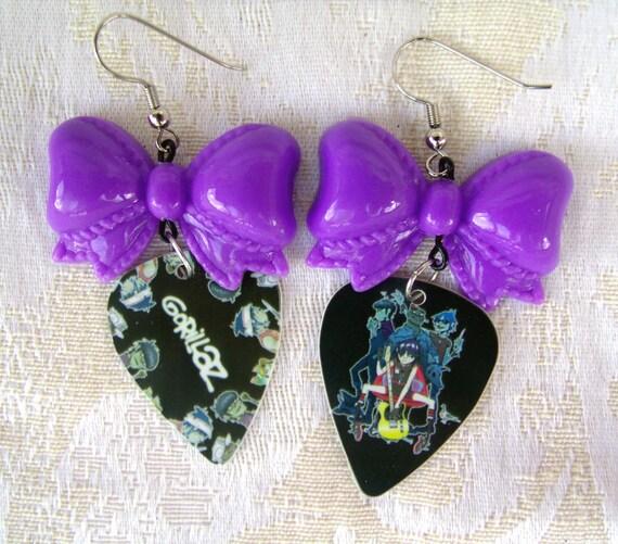 SALE Lolita Gorillaz Guitar Pick Earrings