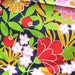 1960s Vintage Cotton Fabric - MOD Navy Floral Print - Hot Pink - Red - Lime Green - Yellow - Joseph Goldinger