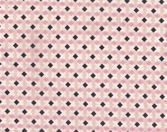 Exclusively Quilters • Melodies • diamond pink cotton fabric 0.54yd (0,5m) 001441