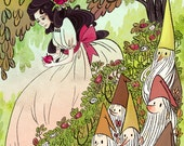 Snow White Literary Poster 12x18 in