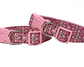"1"" Pink Dog Tag or Buckle Collar CAMELOT"