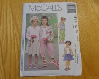 McCall's 3544 girls' wardrobe pattern