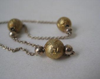 Sterling Silver Gold Bracelet Vintage 925