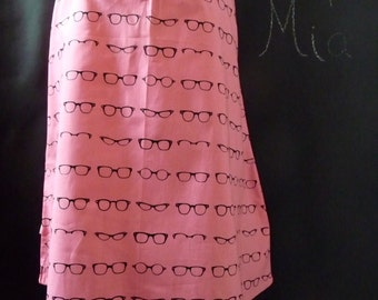 A-line SKIRT - Amy Adams - Geekly Chic Glasses - Made in ANY Size - Boutique Mia