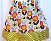 Little Girls Skirt - The Olivia Skirt in Copenhagen print - size 3 ready to ship