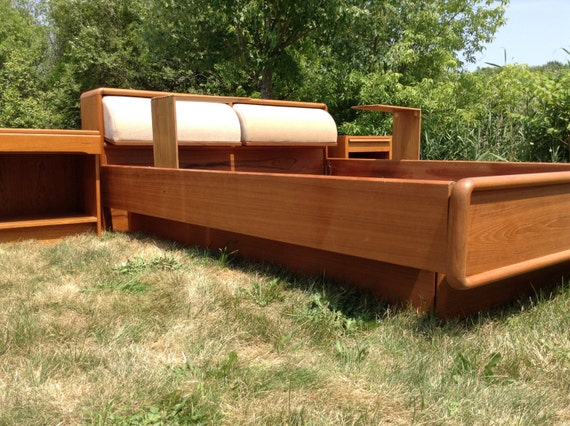 Mid Century Teak Bedroom Set Modern Queen Bed Modern Teak