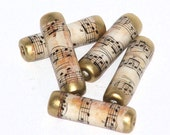 Vintage Music paper beads
