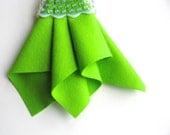 Lemon Lime, Wool Felt Square, Choose Size, Pure Merino Wool, DIY Sewing Supply, 100% Wool, Bright Green Felt, Neon, Felt Sheet,