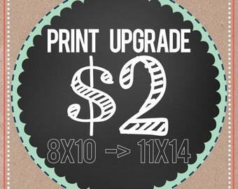 PRINT UPGRADE,  8x10 to  11x14    (2 dollars more)