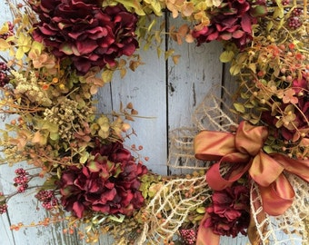 Fall Door Wreath, Autumn Wreath, Fall Decor Wreath
