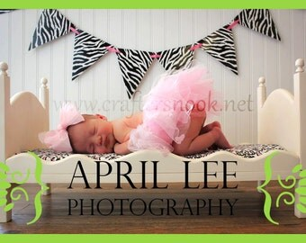 DIY Newborn Infant Photo Prop Posing Bed includes Mattress Boy or Girl Prop - Large Whimsical