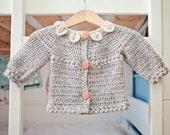 Instant download - Crochet Cardigan PATTERN (pdf file) - Petal Collar Cardigan
