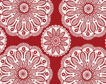 Christmas Fabric Michael Miller Tonal Kaleidoscope in Red 1/2 yard by Pillow and Maxfield