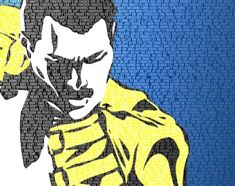 Queen - Freddie Mercury Lyrical 16x20 Canvas Print - Classic Rock - Music