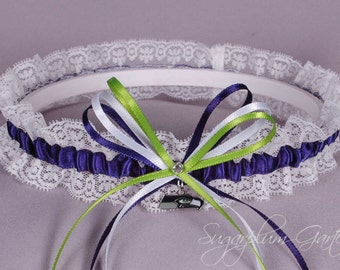 Seattle Seahawks Lace Wedding Garter - Ready to Ship