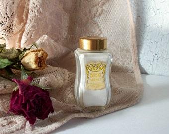 SALE, Vintage Powder Sachet Jar, Avon Golden Promise Sachet Glass Vanity Jar,  Powder Bottle, Toiletries 1940's  Vintage Vanity Items