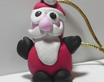 Santa Claus decor / Santa ornament / clay figurine / Holiday / decoration / miniature / O235