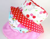 Bucket Sun Hat for Girls, Cherries, Orchid, cute flowers, great for spring, adorable sun protection for kids