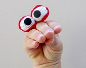 Googlers - finger or hand puppets - INSTANT DOWNLOAD PDF Knitting Pattern