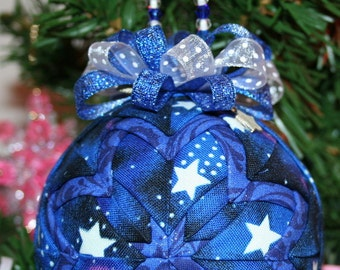 Glow In The Dark Quilted Ornaments Quilt Ball Ornaments Stars Charms and Beads Glow In The Dark!