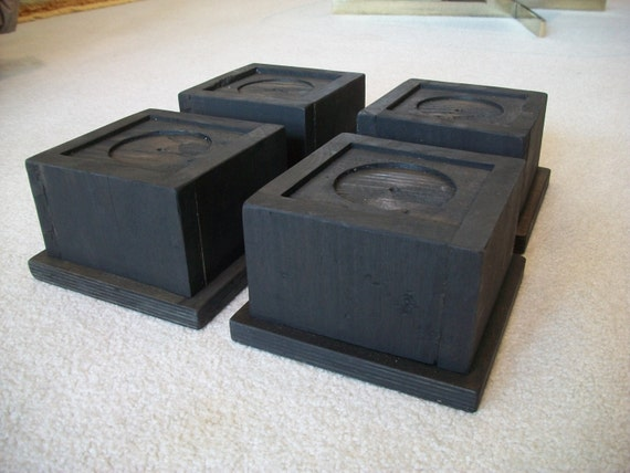 Set of  Large Oversize Bed Risers Furniture Blocks Leg