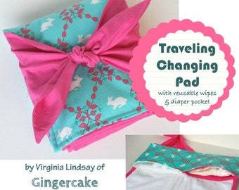 Changing Pad with Pockets PDF Sewing Pattern Traveling Changing Pad