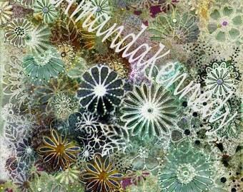 Digital Image Collage Sheet Mixed Media Printable Original Artwork Deep Sea Coral by English Artist Jill Amanda Kennedy Scrapbooking ACEO