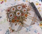 Vintage full flat sheet, Full flat floral vintage sheet