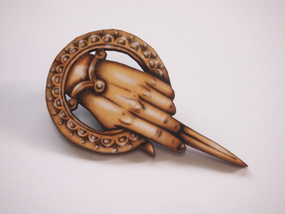 Game of Thrones Hand of the King Laser Cut Wood Brooch