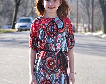 Sasha's Top, Tunic & Dresses Girls NB-18 Tween .PDF Sewing Pattern