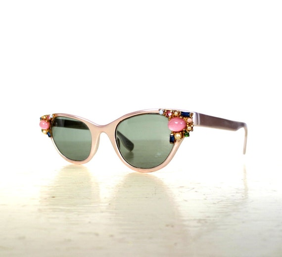 vintage tura eyeglasses 1950s glasses jeweled frames 50s sunglasses