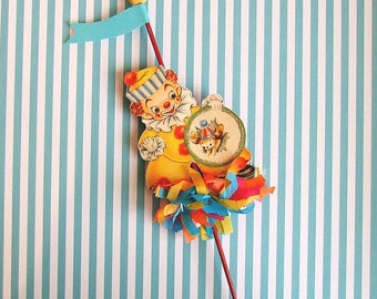 RESERVED for DAWN (Do Not Buy) Cute Clown Pick/Cake Topper/ClownParty/Carnival Clown