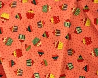 Pink Cupcake Fabric 7/8 Yard