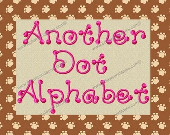 Another Dot Alphabet Machine Embroidery Font