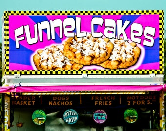 Funnel Cake Carnival Vendor Stand Fine Art Print- Carnival Art, County Fair, Nursery Decor, Home Decor, Children, Baby, Kids