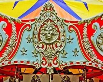 Prince Charming Carousel Ride Fine Art Print- Carnival Art, County Fair, Nursery Decor, Home Decor, Children, Baby, Kids
