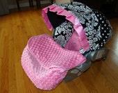 Custom Infant Car Seat Foot Muff Blanket - Car Seat Blanket - Minky Dot Car Seat Cover Blanket - Warm Car Seat Blanket - You Choose Colors
