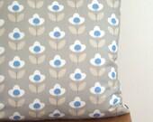 Grey Tulip Print Cushion Cover Pillow Sham