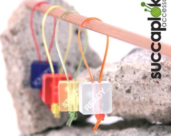Bastilli - Knitting Stitch Markers  - READY..  STEADY.........  KNIT, Light weight place markers for knitting