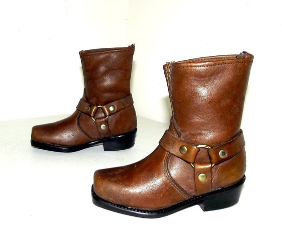 Dingo Brand Brown Harness Boots