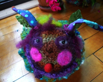 snail--a slow-paced, snail-y  art doll