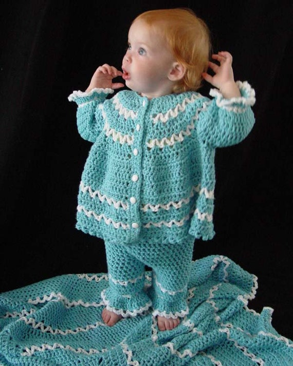 Blueberry Baby Layette Crochet Pattern Pdf